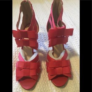 Hot Pink Sandal/Heels size 8.5 NWT